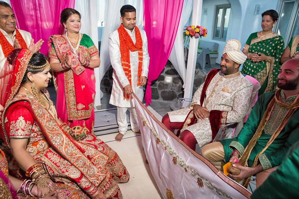 Hindu wedding in Santorini